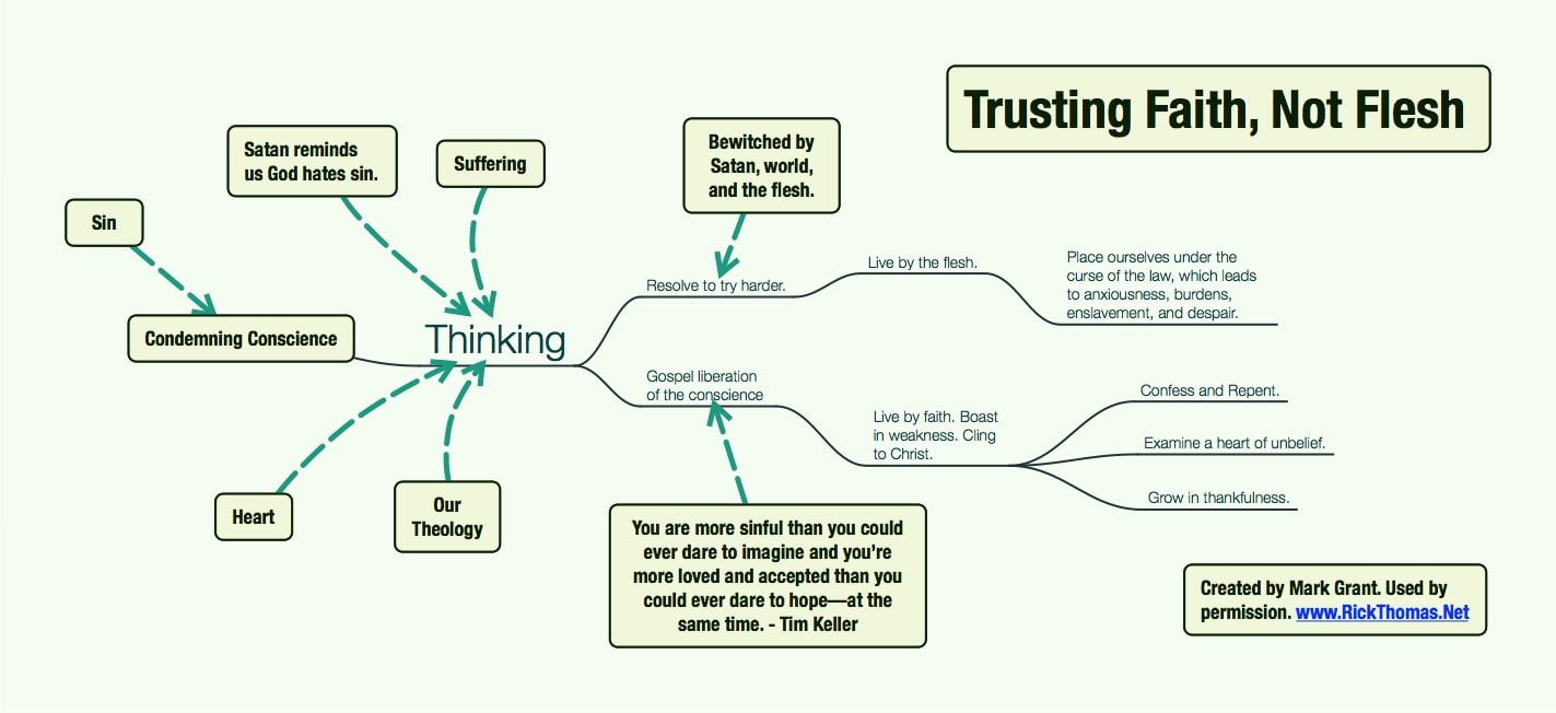 Three mind maps showing how our consciences controls our lives trusting faith not flesh publicscrutiny Images