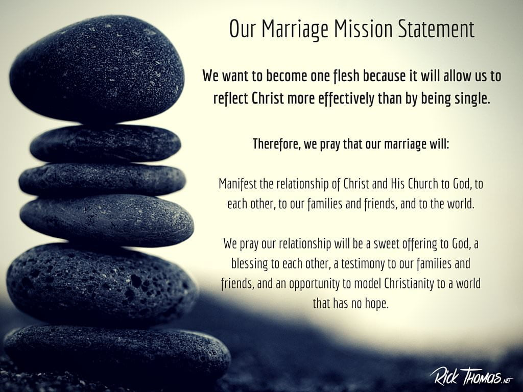 Our Marriage Mission Statement NS