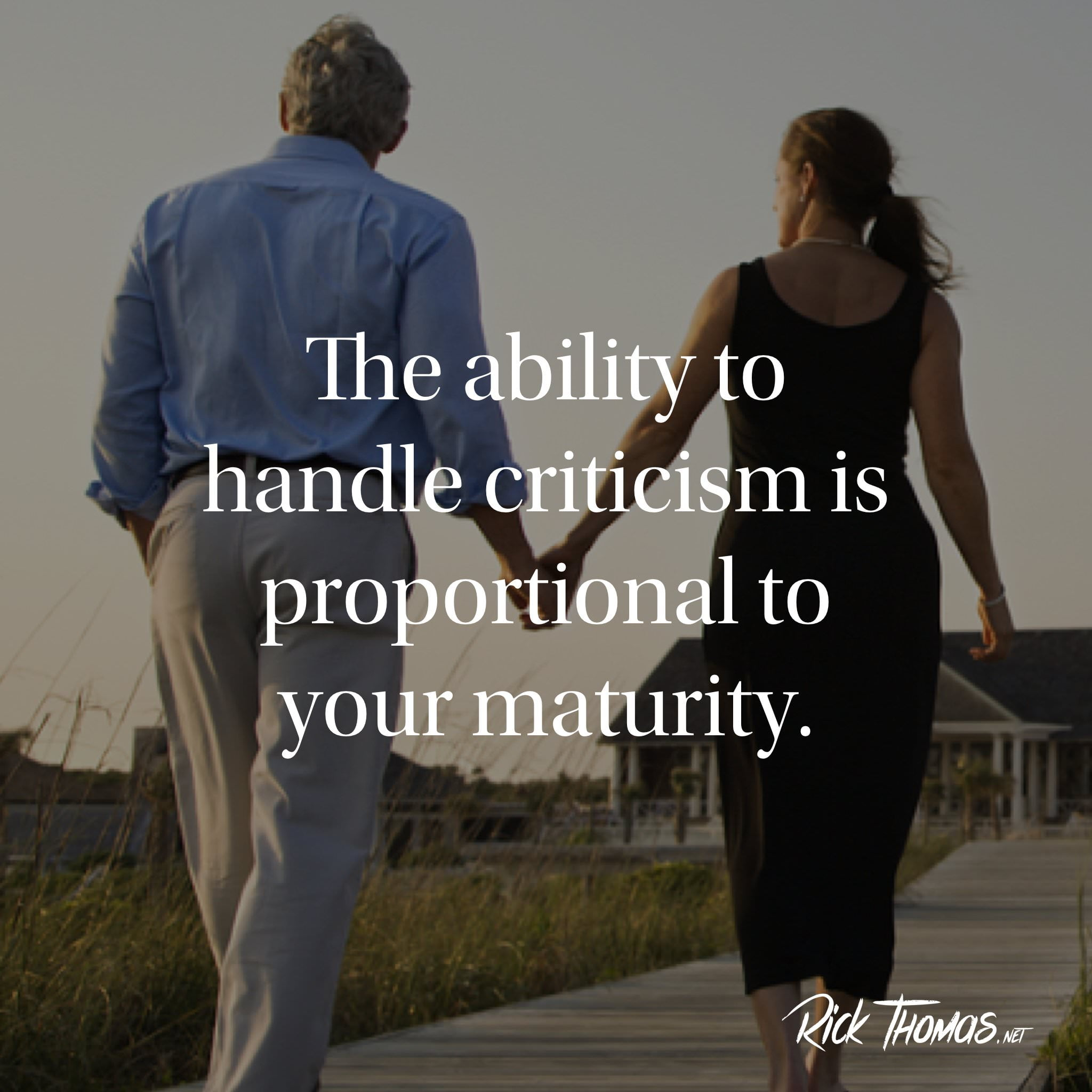 Ability to handle criticism INS