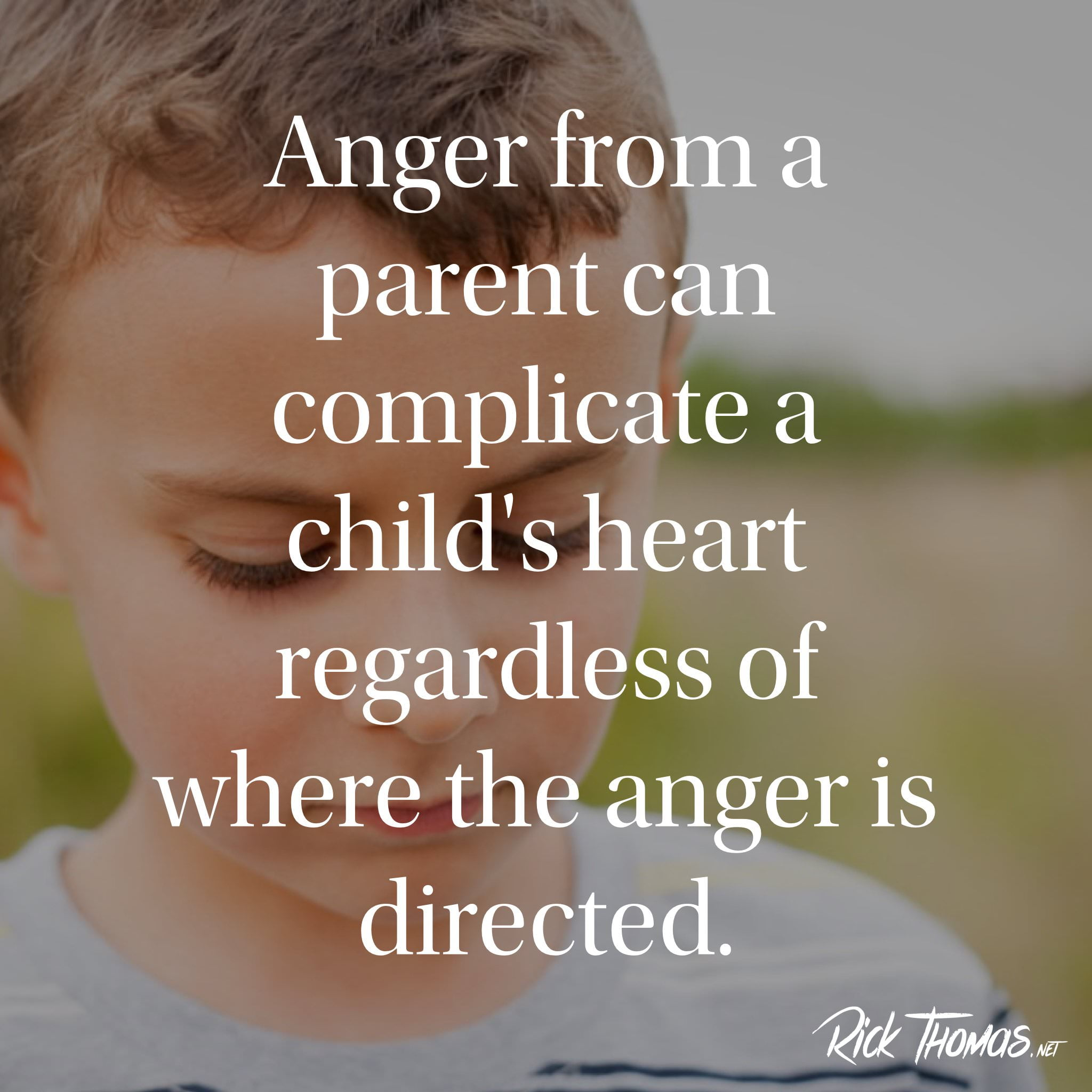 Anger of a parent INS