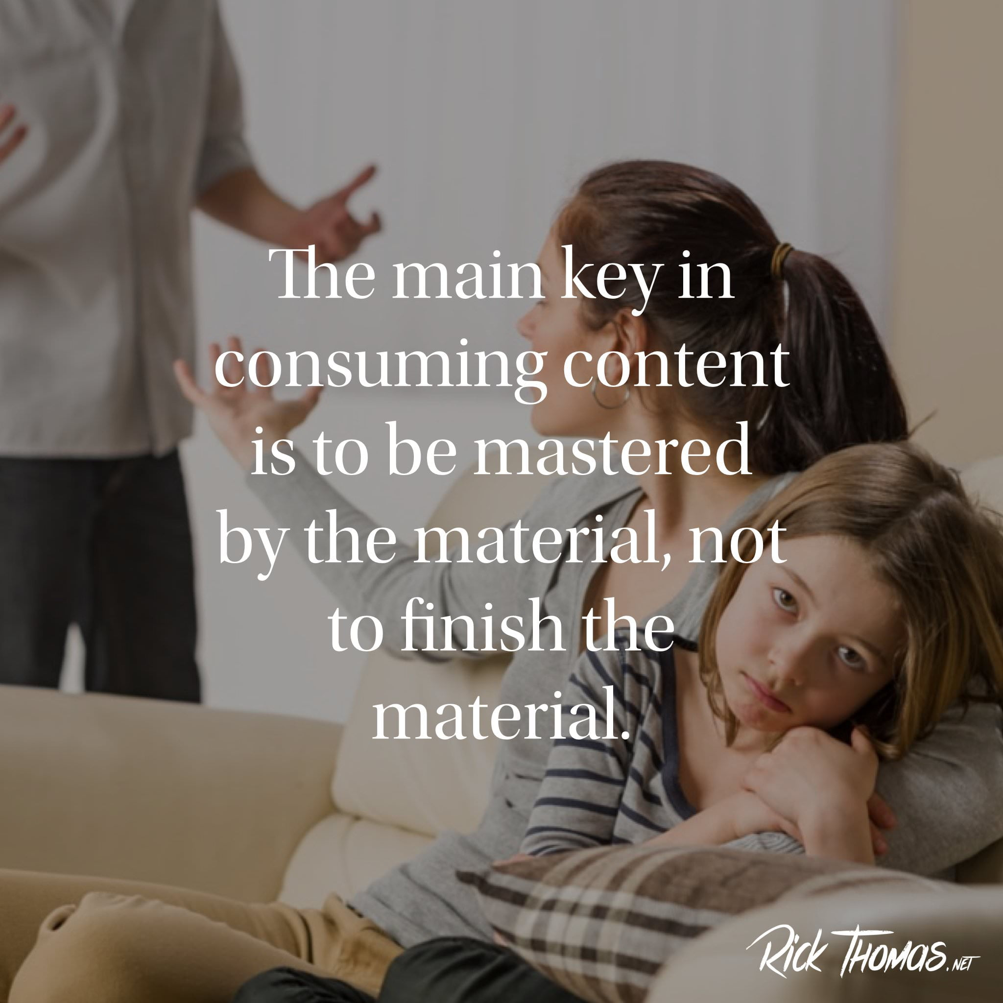 Being mastered by the material INS.001
