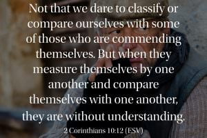 Comparing ourselves