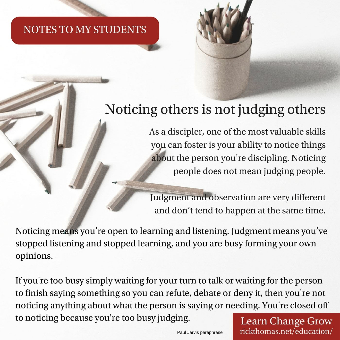 NOTE_ Noticing is not judging
