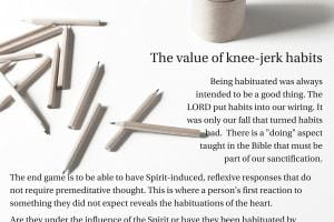 The value of knee-jerk habits