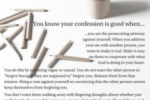 You know your confession is good when…