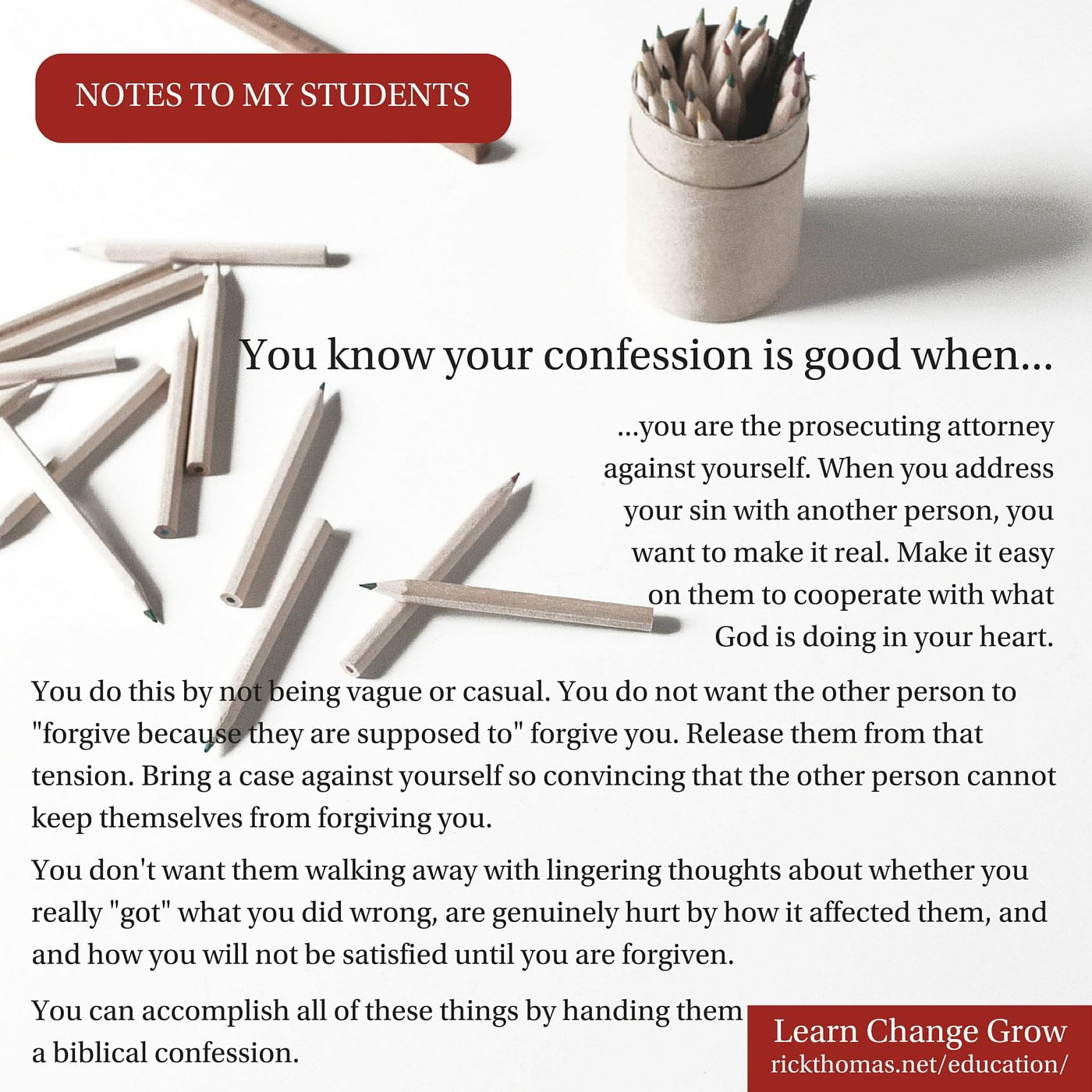 NOTE_ You know your confession was good when...
