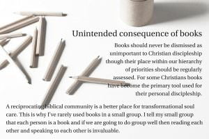 Unintended consequence of books