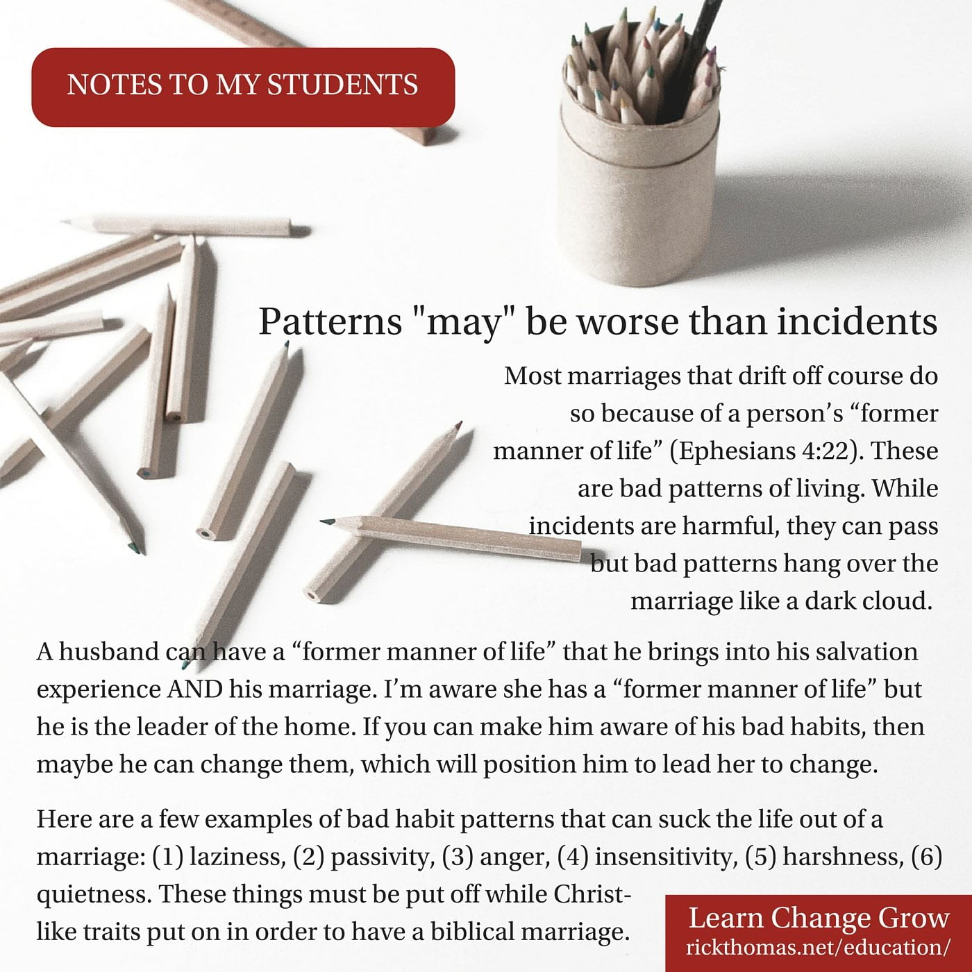 NOTE_ Patterns may be worse than incidents