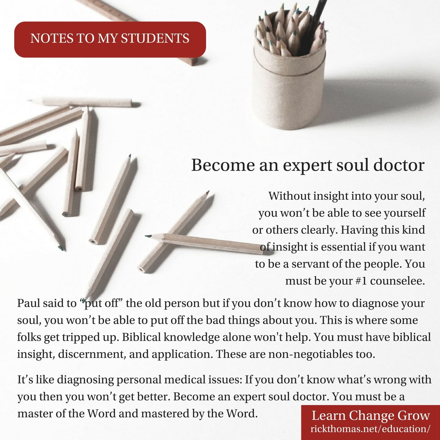 NOTE_ Become an expert soul doctor