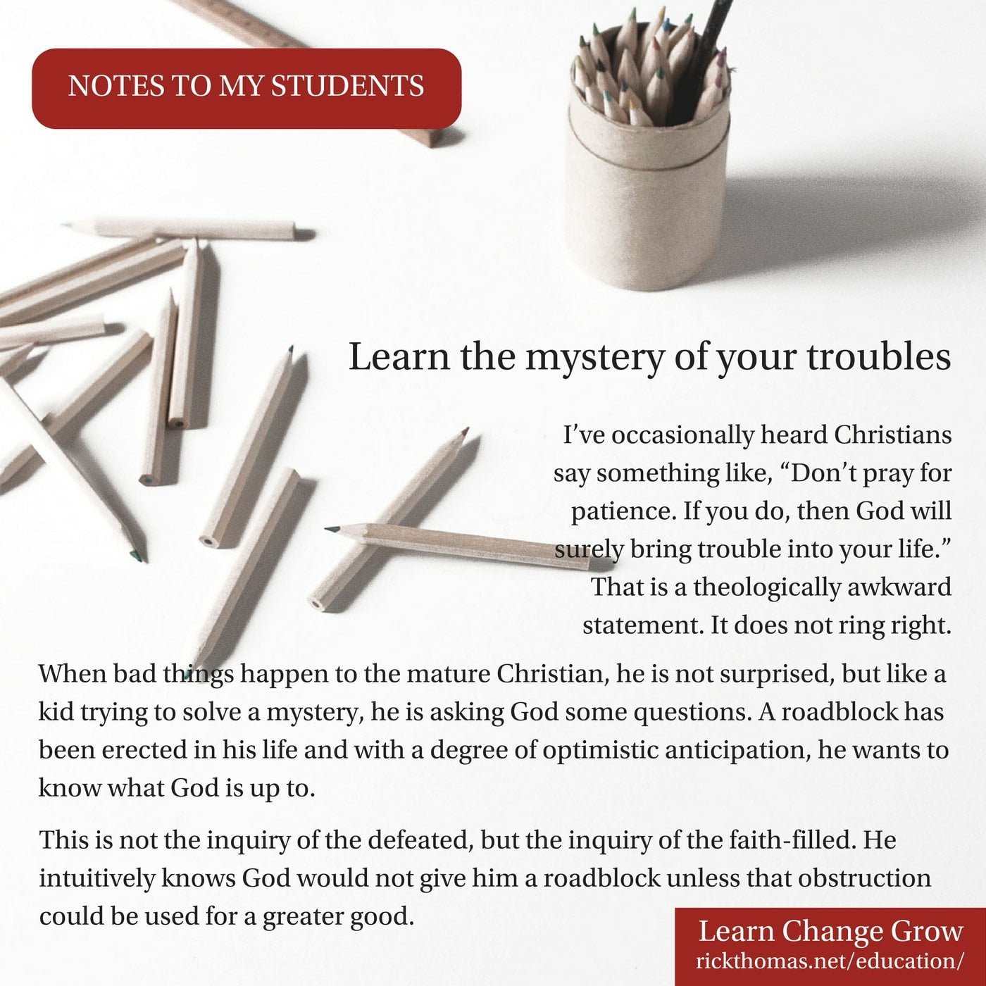 NOTE_ Learn the mystery of your troubles