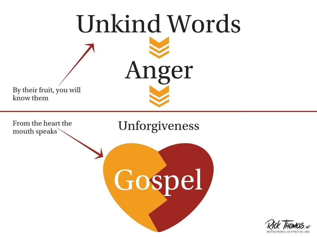 Unkind Words Come from an Angry Heart