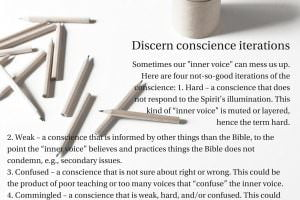 Discern conscience iterations