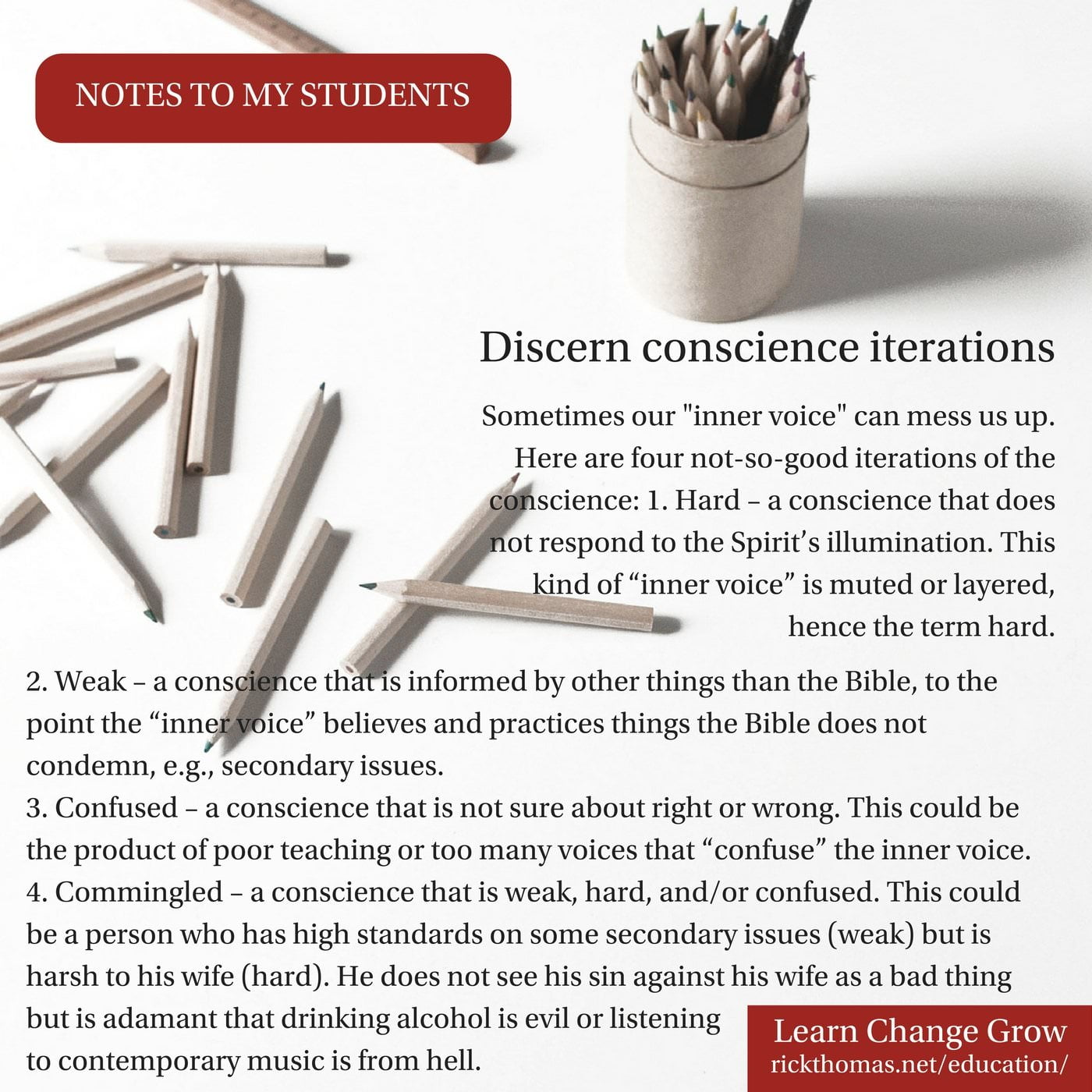NOTE_ Discern the conscience(1)