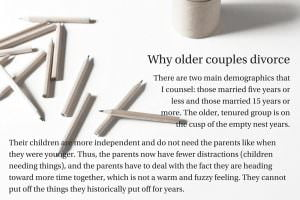 Why older couples divorce
