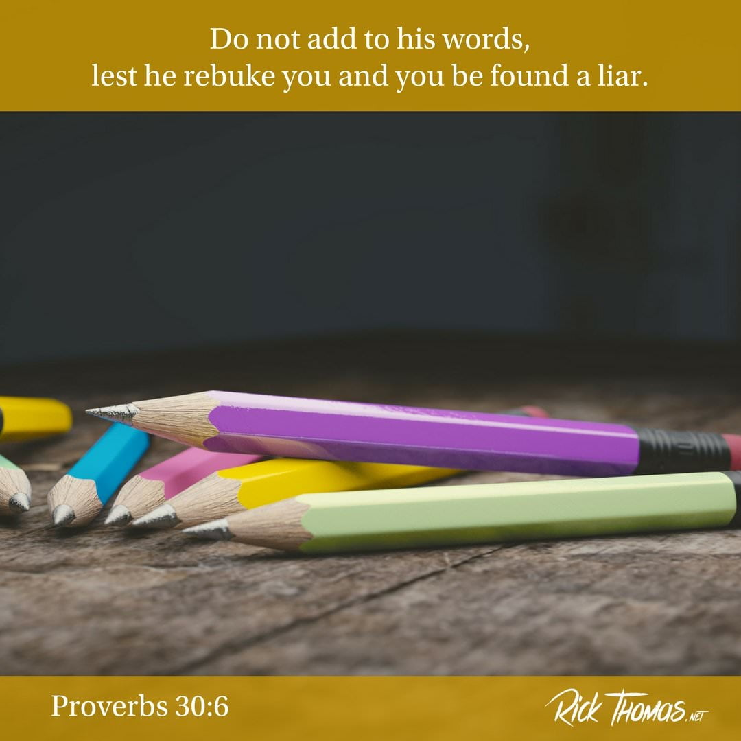 20 Verse of the Day Proverbs 30_6