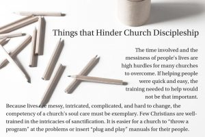 Things That Hinder Church Discipleship
