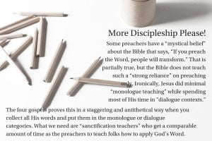 More Discipleship Please