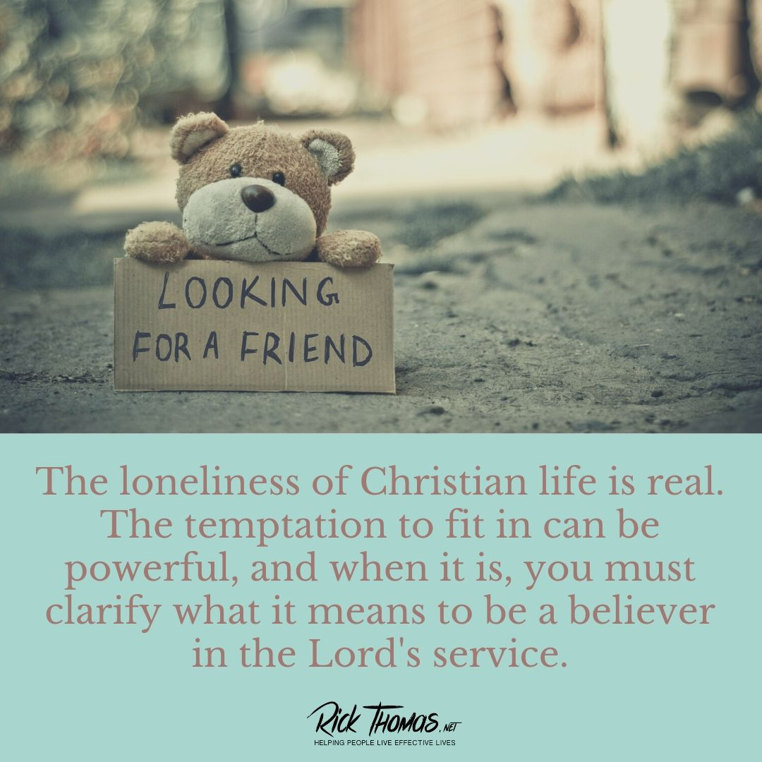 The lonely Christian life