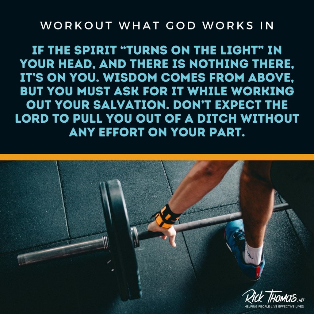 Workout What God Works In