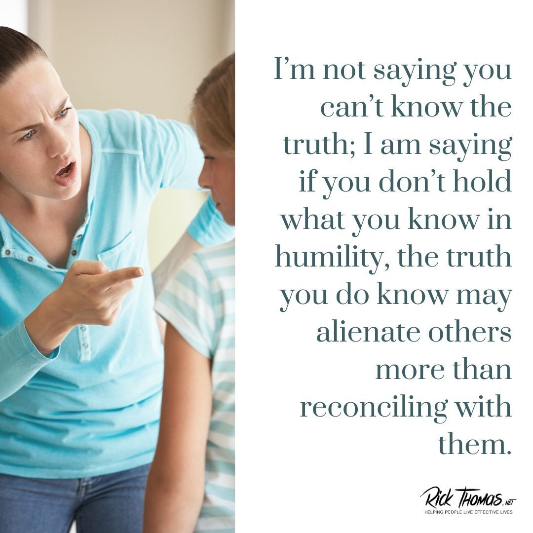 Holding What You Know in Humility