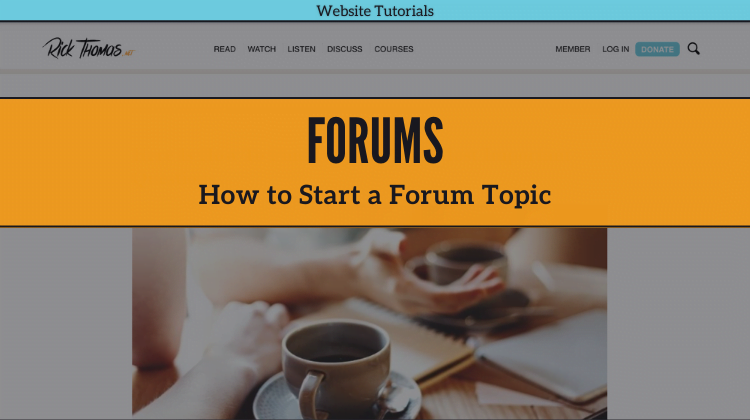 How to Start a Forum Topic