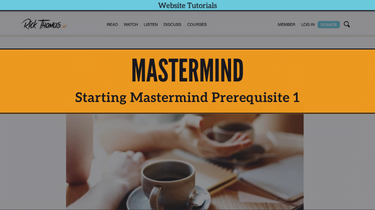 Starting Mastermind Prerequisite 1 Course