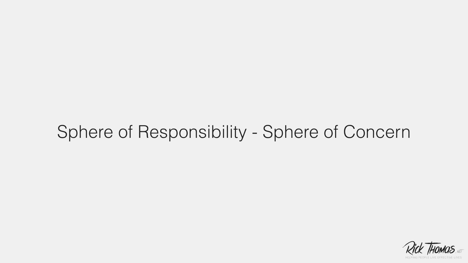 Video Channel Sphere of Responsibility and Sphere of Concern01