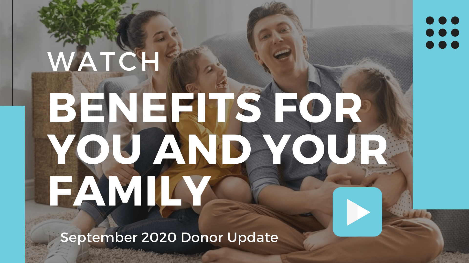 September 2020 Donor Update