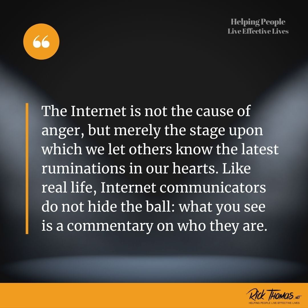 The Internet Is Not the Cause of Our Anger