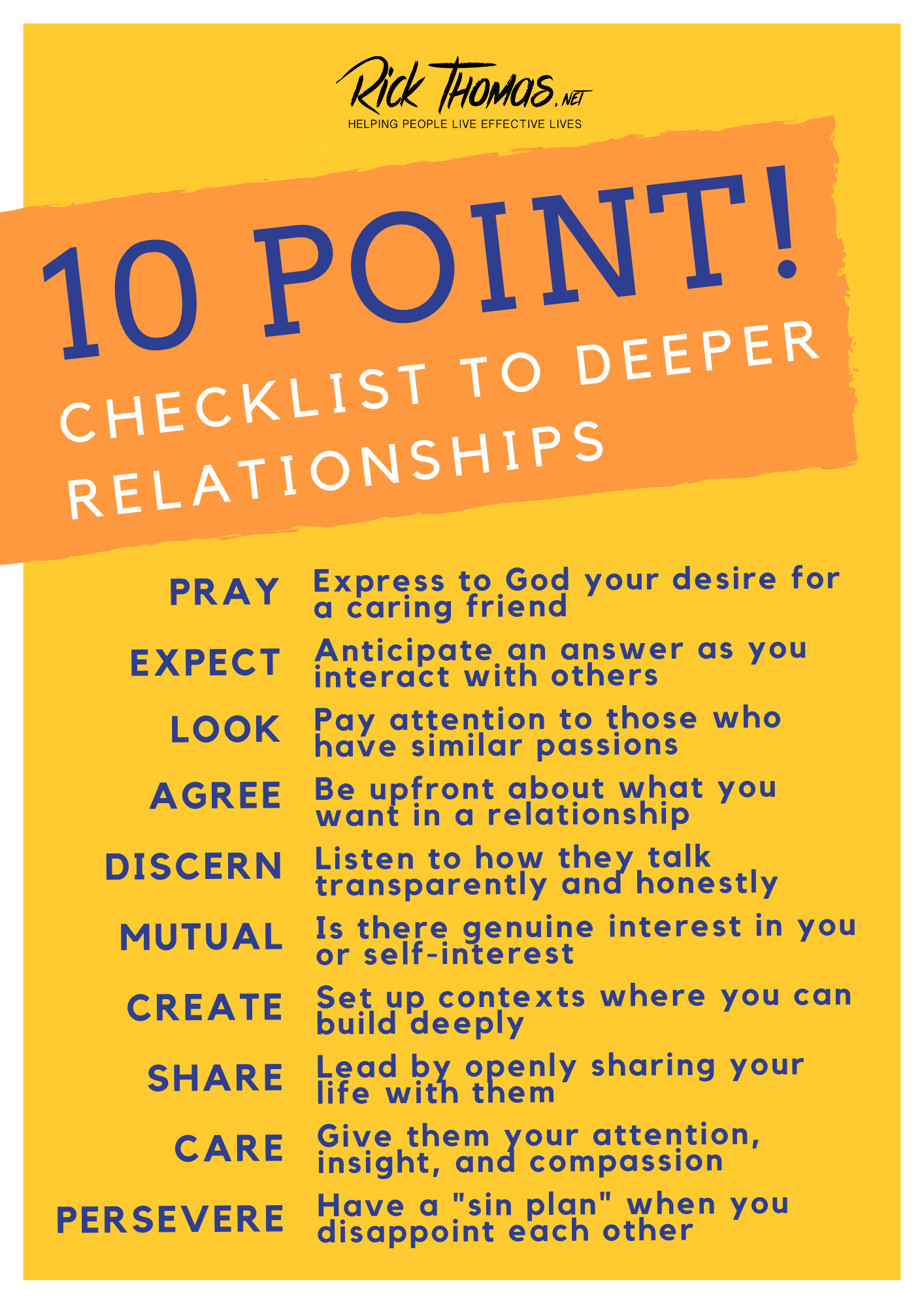 10-Point Checklist for Deeper Relationships