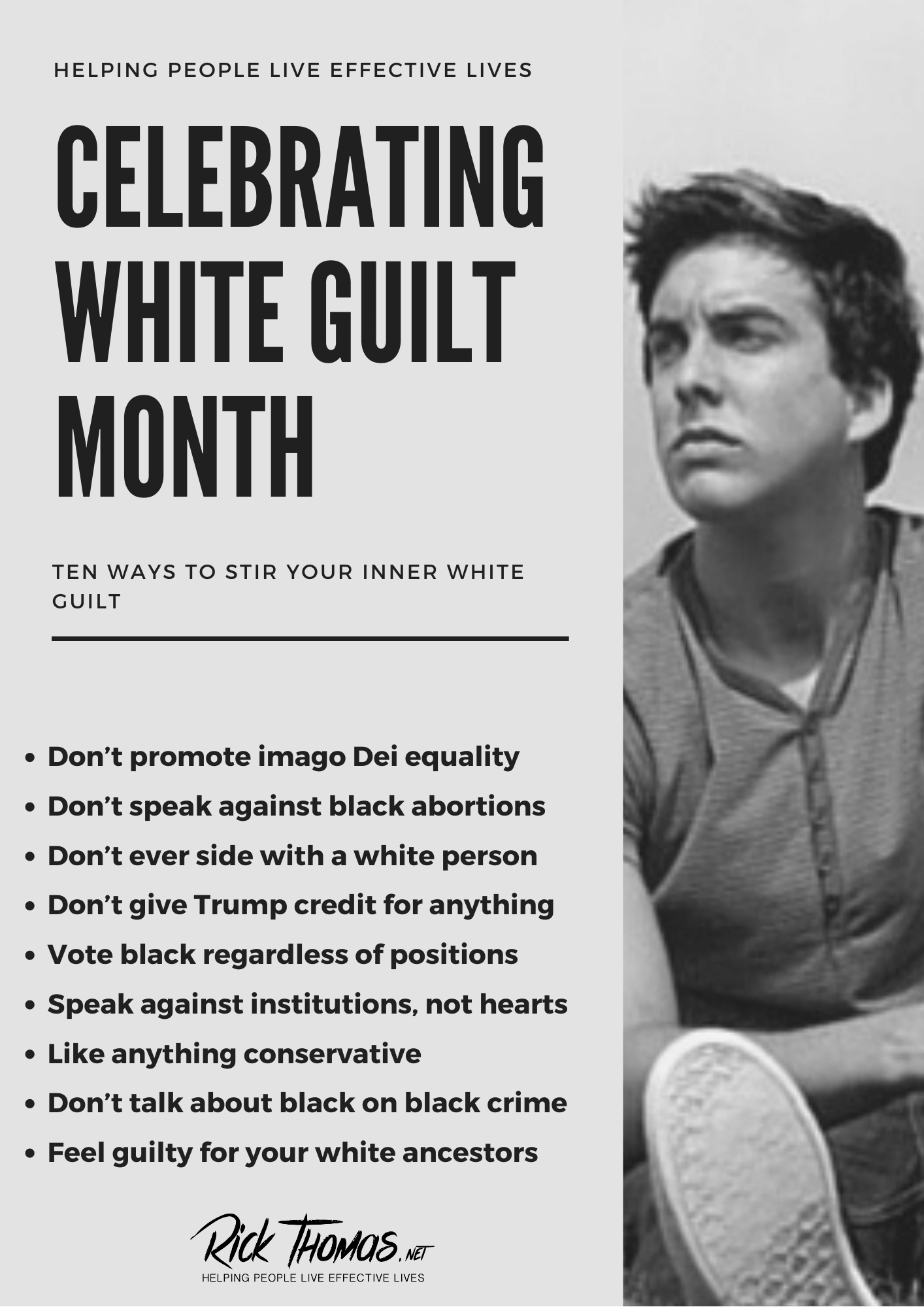 Celebrating White Guilt Month (1)