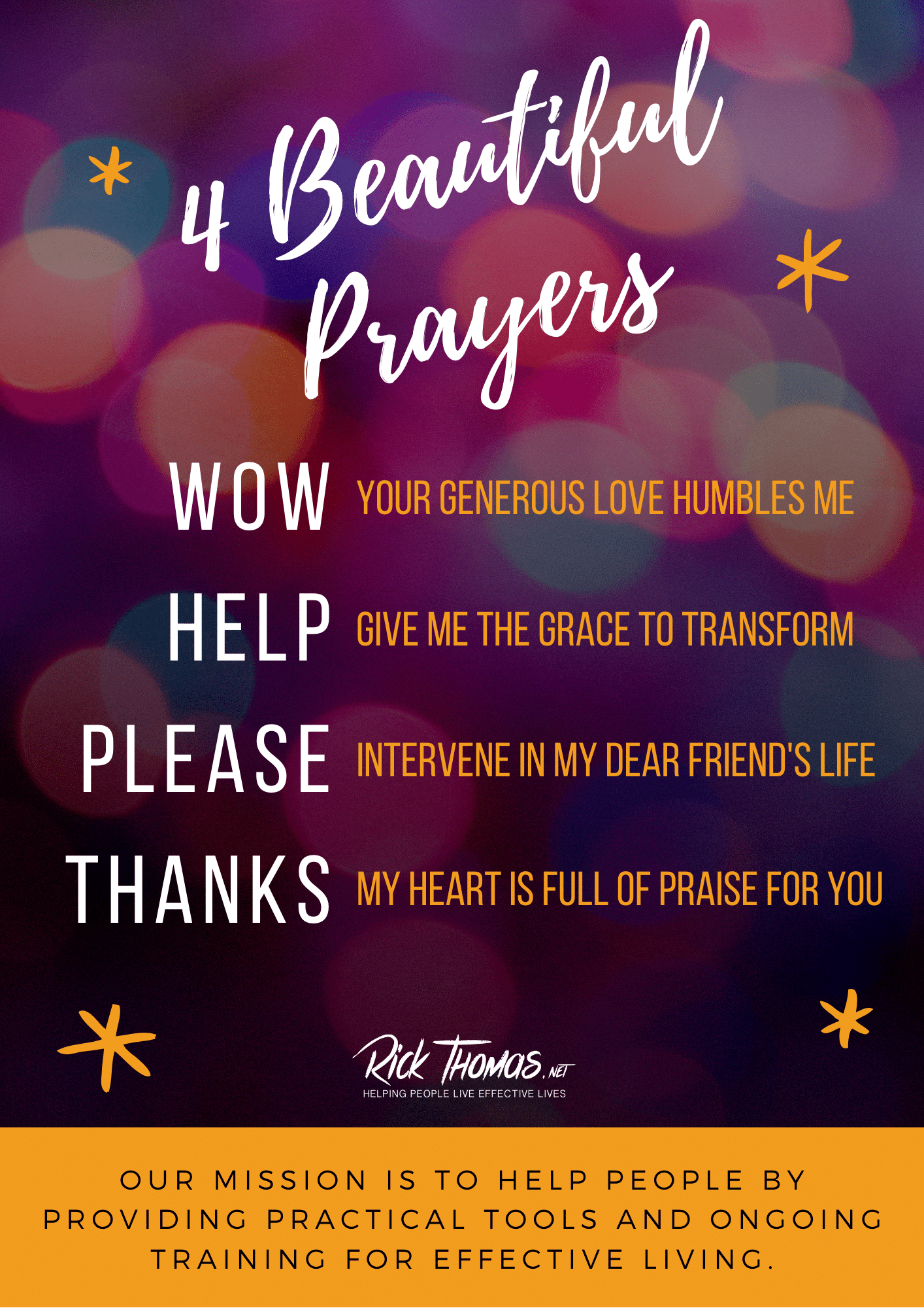 Four Beautiful Prayers That Will Transform Your Life