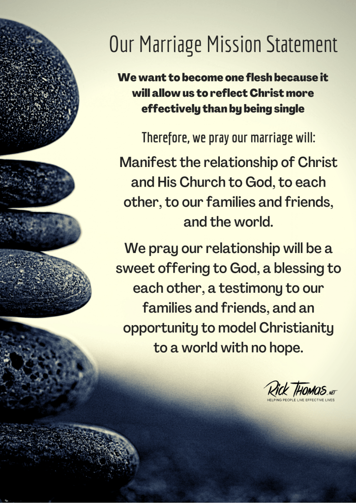 Rick and Lucia's Marriage Mission Statement