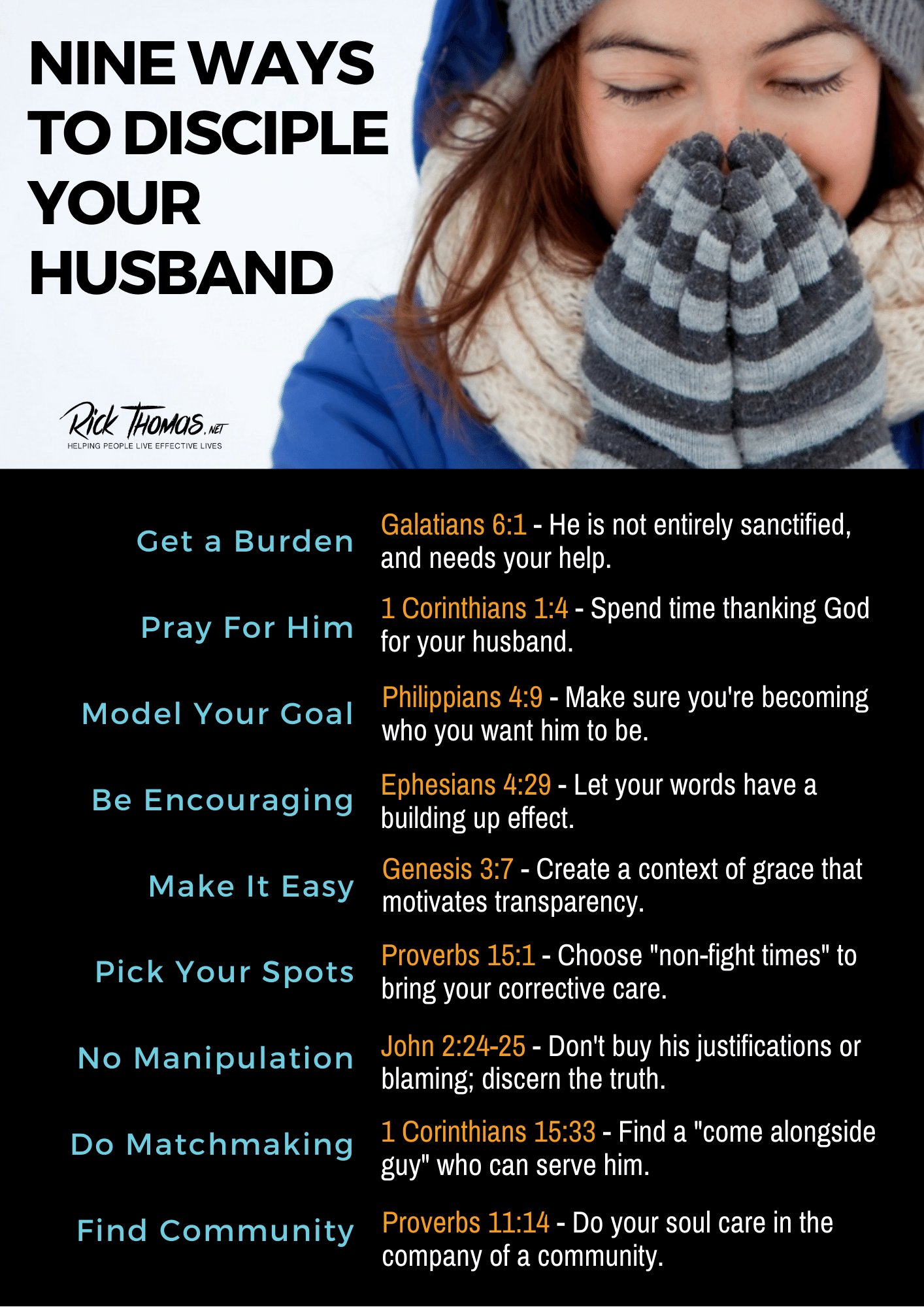 Nine Ways To Disciple Your Husband