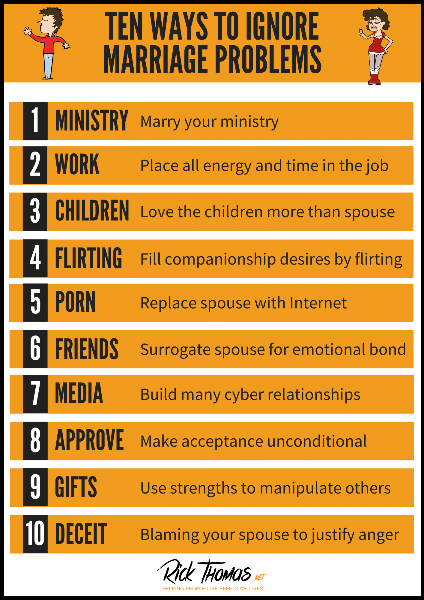 Ten Ways To Ignore Your Marriage