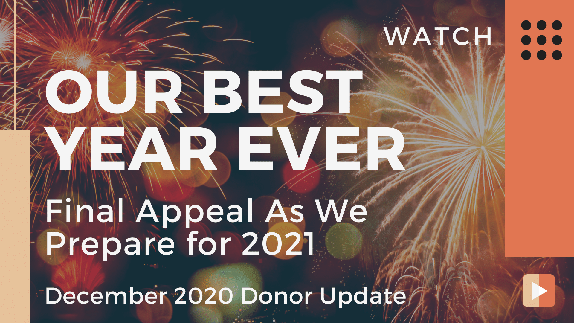 December 2020 Donor Update