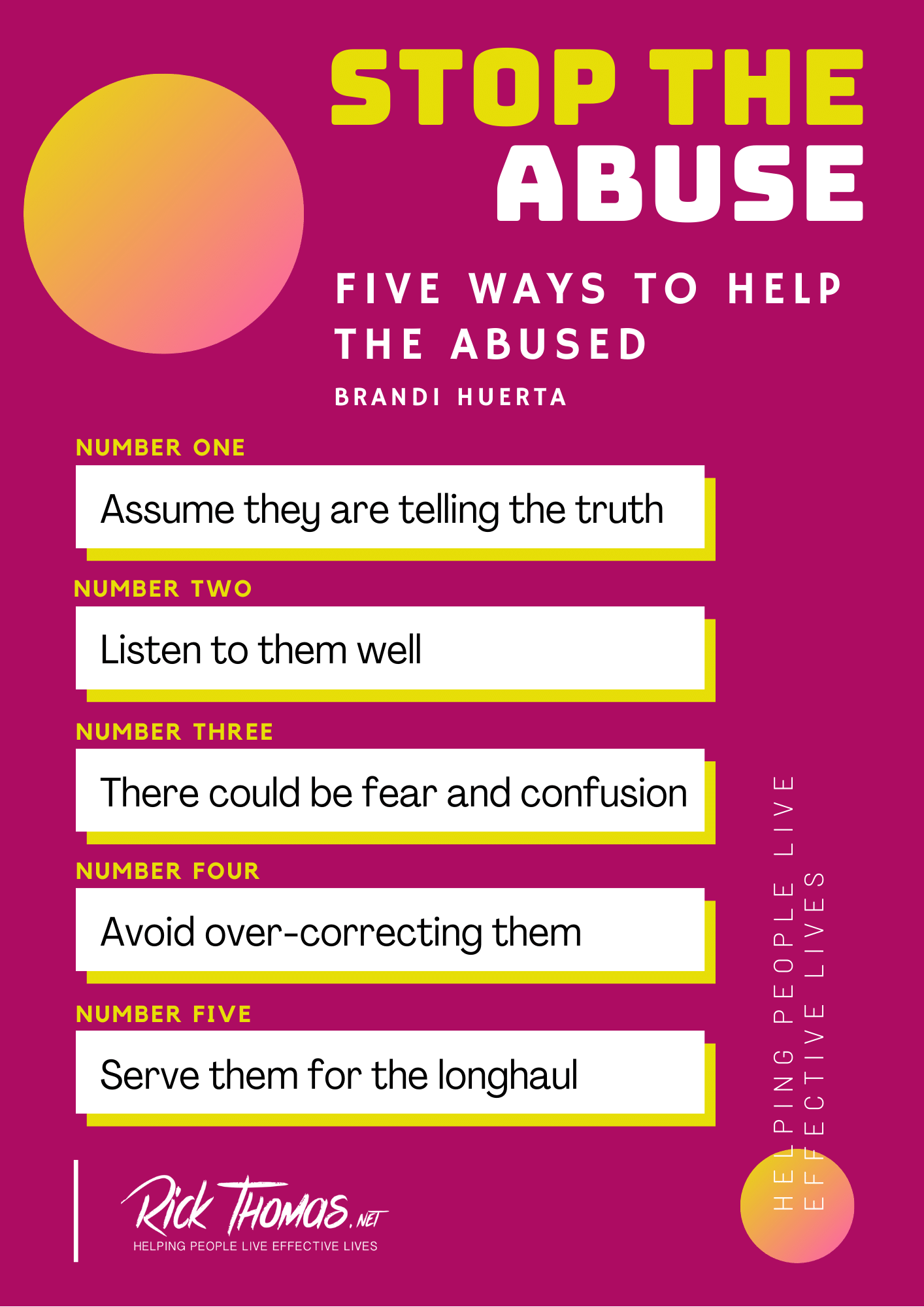 Five Ways To Help the Abuse (2)