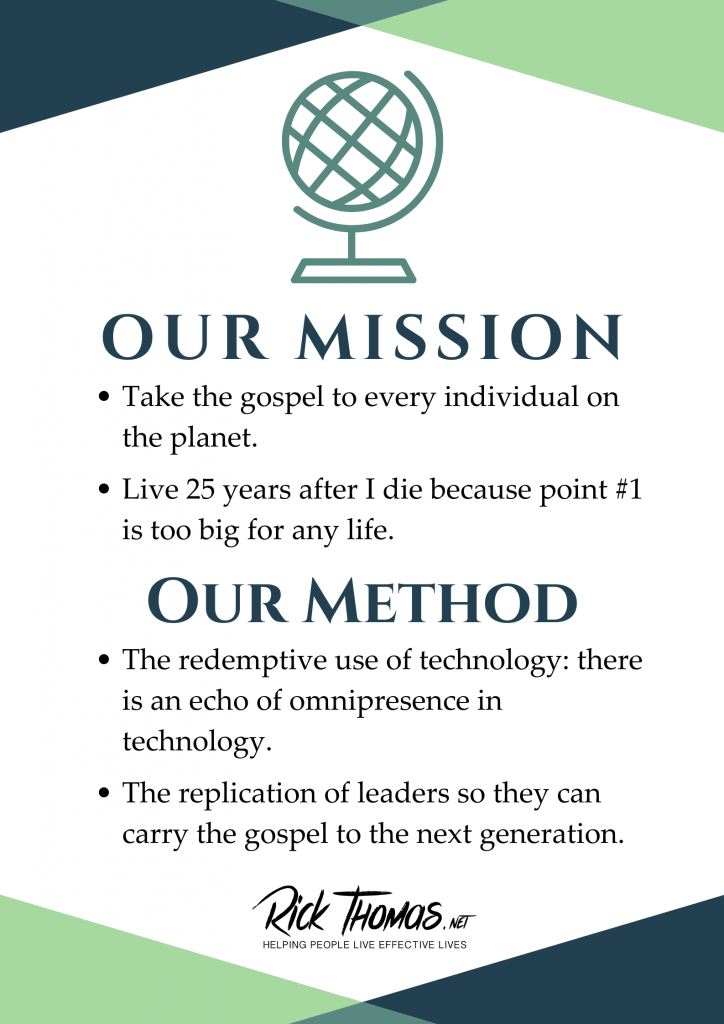 Our Mission, Our Method