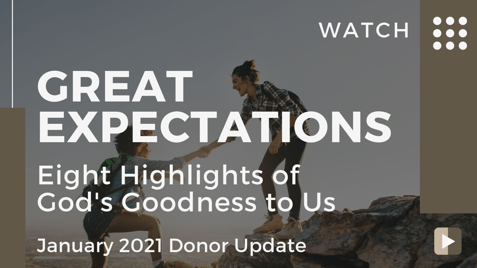 January 2021 Donor Update