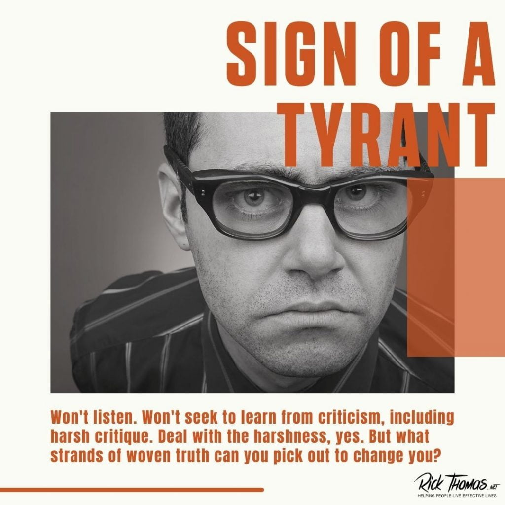 Sign of a Tyrant