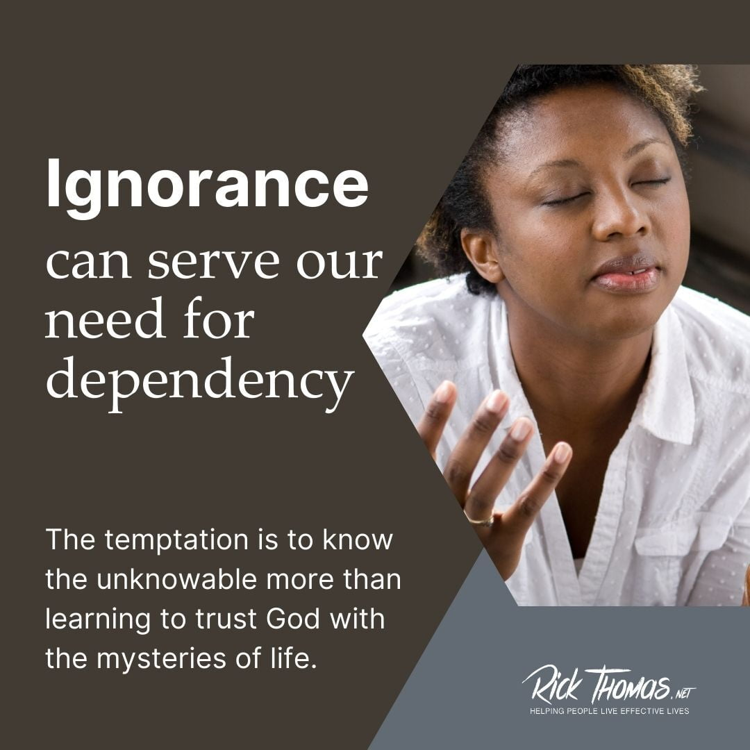 Ignorance Leads to Dependency