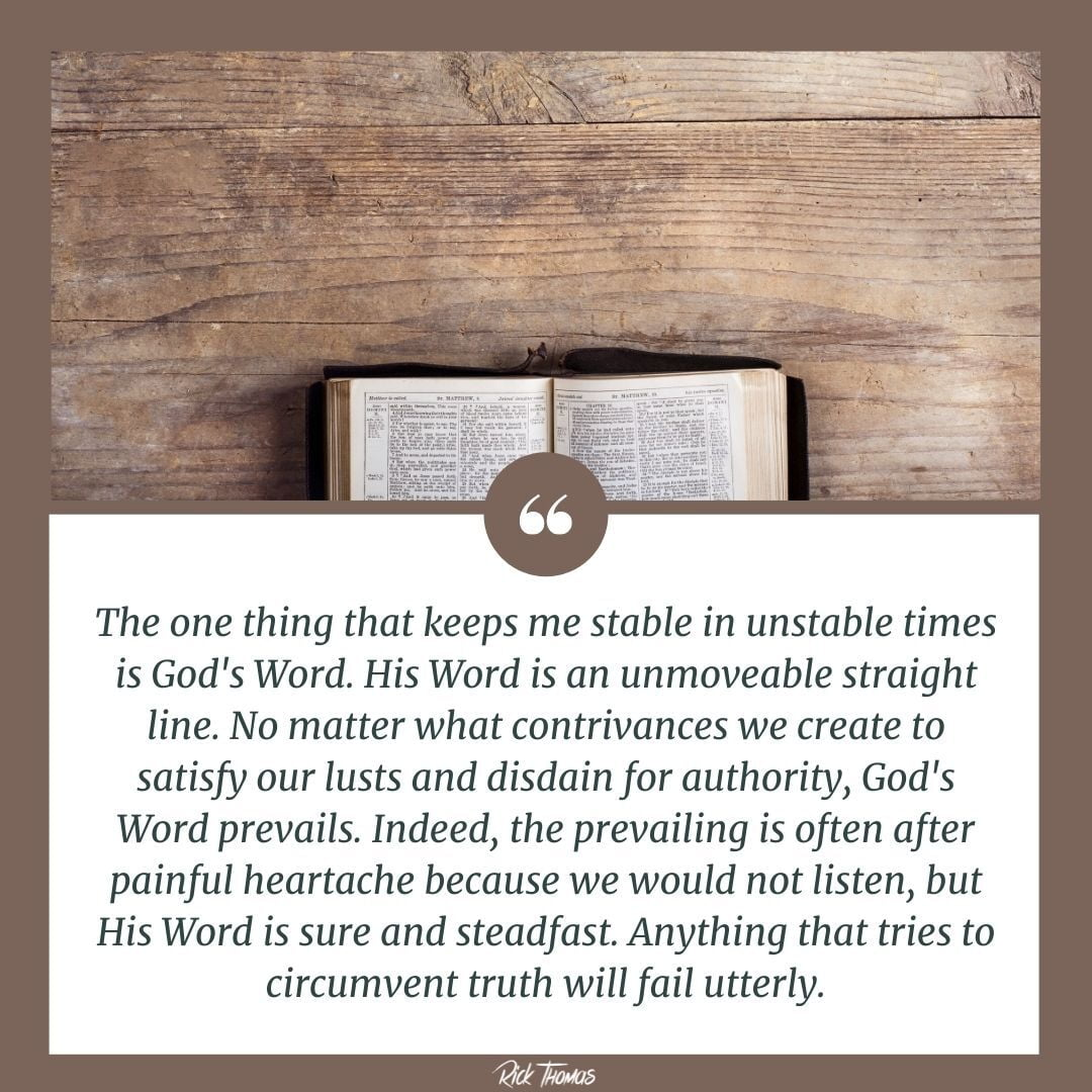 Stabilized By God's Word